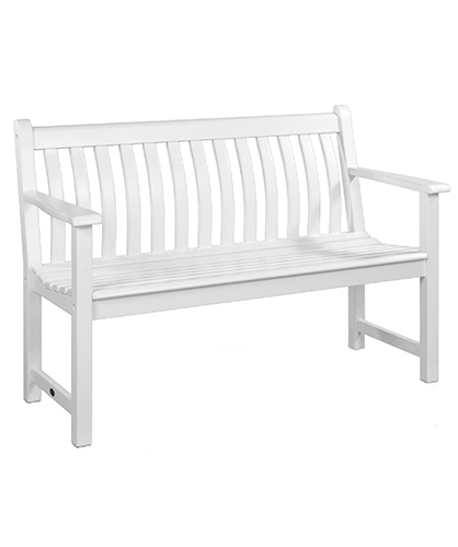 334W WHITE BROADFIELD BENCH 4FT £225.00