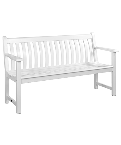 335W WHITE BROADFIELD BENCH 5FT £249.00