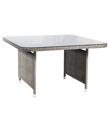 7713GR CASUAL DINING TABLE W. GLASS 1.3M x 1.3M was £449.00 NOW ONLY £404.10