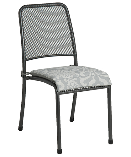 7951CG CHAIR CUSH. - GREY FLORAL £14.50