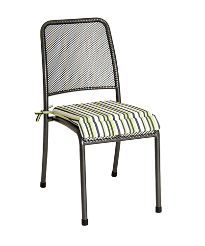 7951CGST CHAIR CUSH. - GREEN STRIPE £14.50