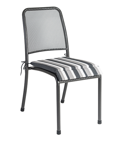 7951CHST CHAIR CUSH. - CHARCOAL STRIPE £14.50