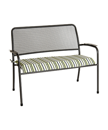 7956CGST BENCH CUSH. GREEN STRIPE £35.00