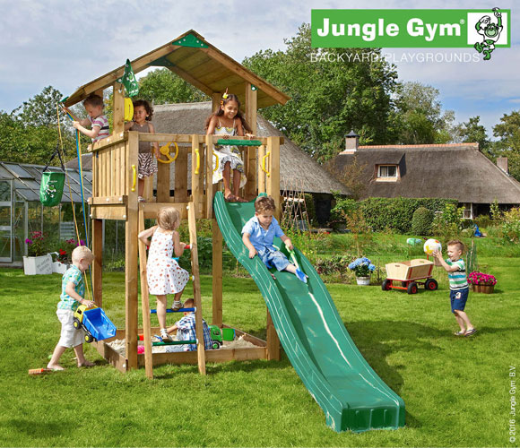 Climbing Frame with Slide - Jungle Chalet