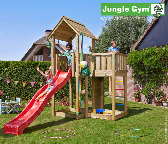 Climbing Frame with Slide - Jungle Mansion
