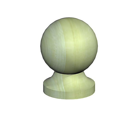 720100G Fencemate® Wooden Ball & Collar Post Finials